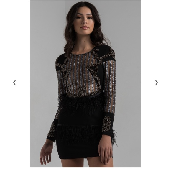 12eff59aa3 AKIRA Dresses | Fringe Glitter Dress | Poshmark